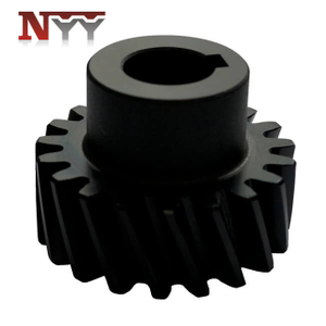 Beverage packing machinery spur gear with black oxide